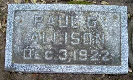 ALLISON, PAUL G - Calhoun County, Michigan | PAUL G ALLISON - Michigan Gravestone Photos