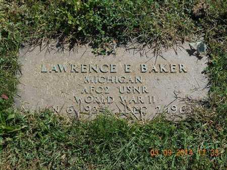 BAKER, LAWRENCE E. - Calhoun County, Michigan   LAWRENCE E. BAKER - Michigan Gravestone Photos