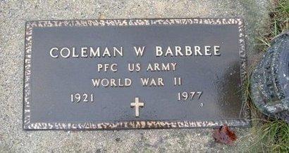 BARBREE, COLEMAN W. - Calhoun County, Michigan | COLEMAN W. BARBREE - Michigan Gravestone Photos