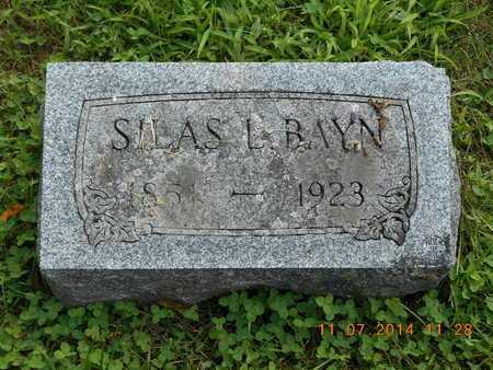 BAYN, SILAS L. - Calhoun County, Michigan | SILAS L. BAYN - Michigan Gravestone Photos