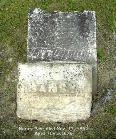 BEST, NANCY - Calhoun County, Michigan   NANCY BEST - Michigan Gravestone Photos