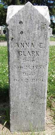 CLARK, ANNA E. - Calhoun County, Michigan | ANNA E. CLARK - Michigan Gravestone Photos