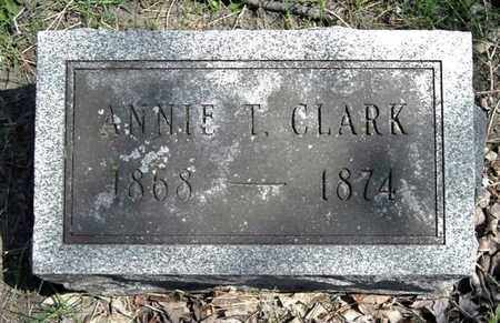 CLARK, ANNIE T. - Calhoun County, Michigan   ANNIE T. CLARK - Michigan Gravestone Photos