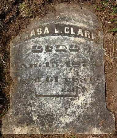 CLARK, AMASA L - Calhoun County, Michigan | AMASA L CLARK - Michigan Gravestone Photos