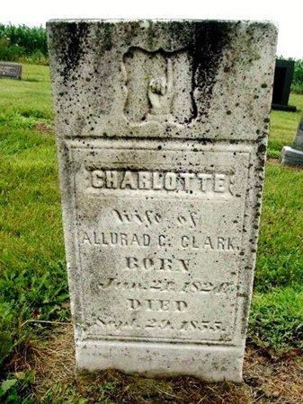 CLARK, CHARLOTTE - Calhoun County, Michigan | CHARLOTTE CLARK - Michigan Gravestone Photos