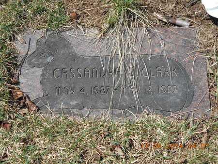 CLARK, CASSANDRA C. - Calhoun County, Michigan | CASSANDRA C. CLARK - Michigan Gravestone Photos