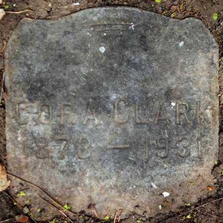 CLARK, CORA - Calhoun County, Michigan   CORA CLARK - Michigan Gravestone Photos