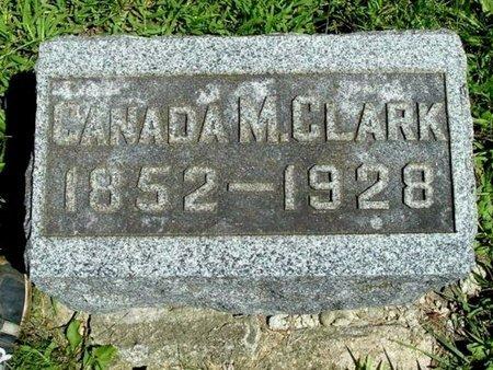 CLARK, CANADA M. - Calhoun County, Michigan | CANADA M. CLARK - Michigan Gravestone Photos