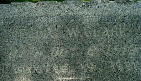 CLARK, ELIHU W. - Calhoun County, Michigan | ELIHU W. CLARK - Michigan Gravestone Photos