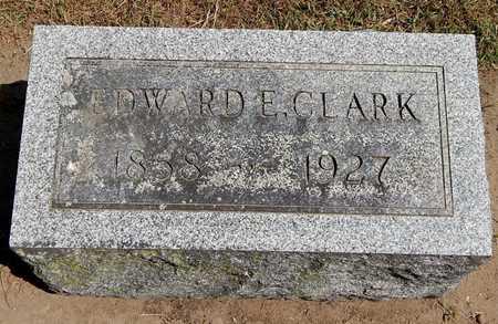 CLARK, EDWARD E - Calhoun County, Michigan | EDWARD E CLARK - Michigan Gravestone Photos