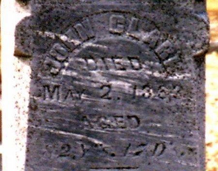 CLARK, JOHN - Calhoun County, Michigan   JOHN CLARK - Michigan Gravestone Photos