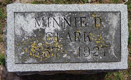 CLARK, MINNIE D - Calhoun County, Michigan | MINNIE D CLARK - Michigan Gravestone Photos
