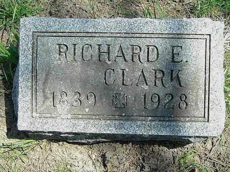 CLARK, RICHARD E. - Calhoun County, Michigan | RICHARD E. CLARK - Michigan Gravestone Photos