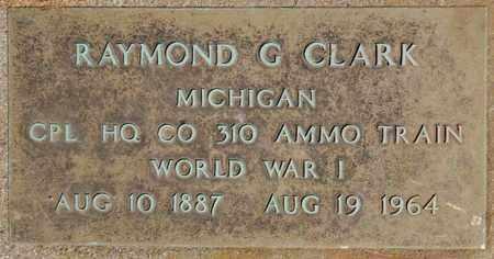 CLARK, RAYMOND G - Calhoun County, Michigan | RAYMOND G CLARK - Michigan Gravestone Photos