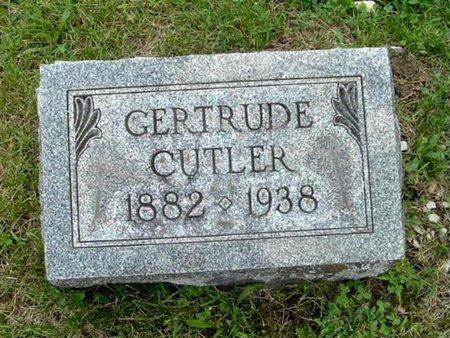 CUTLER, GERTRUDE - Calhoun County, Michigan   GERTRUDE CUTLER - Michigan Gravestone Photos