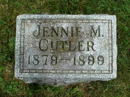 CUTLER, JENNIE M - Calhoun County, Michigan | JENNIE M CUTLER - Michigan Gravestone Photos