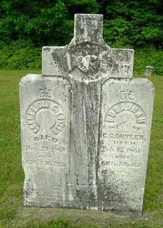 CUYLER, SUSANNAH - Calhoun County, Michigan   SUSANNAH CUYLER - Michigan Gravestone Photos