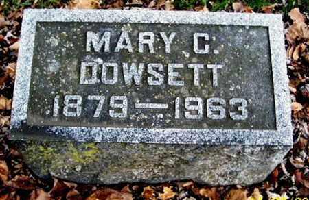 DOWSETT, MARY C - Calhoun County, Michigan | MARY C DOWSETT - Michigan Gravestone Photos