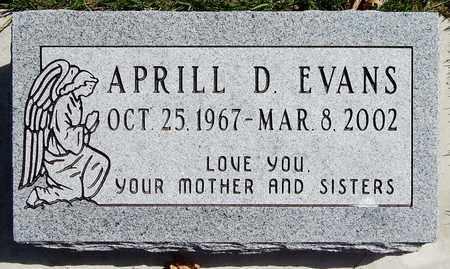 EVANS, APRILL D - Calhoun County, Michigan   APRILL D EVANS - Michigan Gravestone Photos