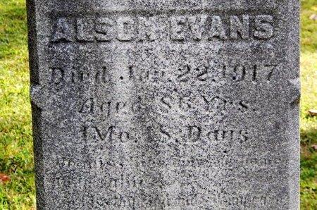 EVANS, ALSON - Calhoun County, Michigan | ALSON EVANS - Michigan Gravestone Photos