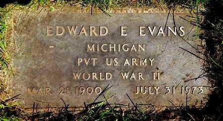 EVANS, EDWARD E - Calhoun County, Michigan   EDWARD E EVANS - Michigan Gravestone Photos