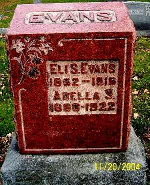 EVANS, ADELLA - Calhoun County, Michigan | ADELLA EVANS - Michigan Gravestone Photos