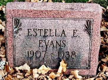 EVANS, ESTELLA E - Calhoun County, Michigan | ESTELLA E EVANS - Michigan Gravestone Photos
