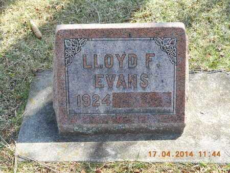 EVANS, LLOYD F. - Calhoun County, Michigan | LLOYD F. EVANS - Michigan Gravestone Photos