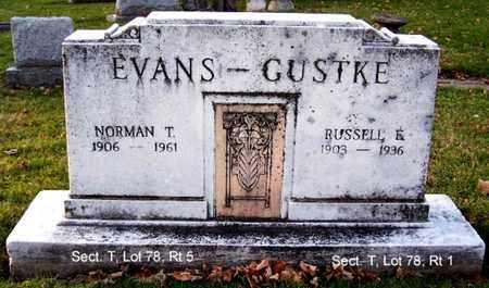 EVANS, NORMAN T - Calhoun County, Michigan | NORMAN T EVANS - Michigan Gravestone Photos
