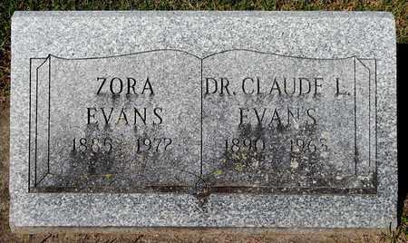 EVANS, CLAUDE L - Calhoun County, Michigan | CLAUDE L EVANS - Michigan Gravestone Photos