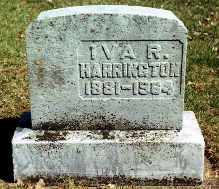 HARRINGTON, IVA - Calhoun County, Michigan   IVA HARRINGTON - Michigan Gravestone Photos