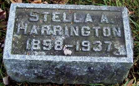 HARRINGTON, STELLA A - Calhoun County, Michigan | STELLA A HARRINGTON - Michigan Gravestone Photos