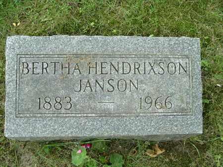 JANSON, BERTHA - Calhoun County, Michigan | BERTHA JANSON - Michigan Gravestone Photos