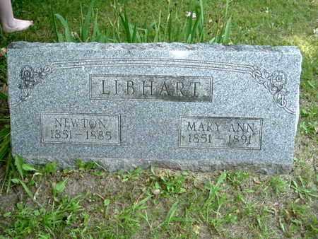 LIBHART, NEWTON - Calhoun County, Michigan | NEWTON LIBHART - Michigan Gravestone Photos