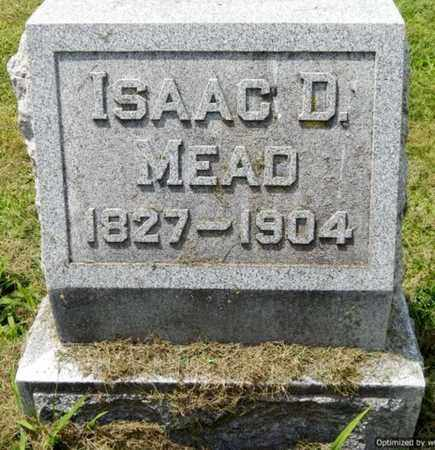 MEAD, ISAAC D - Calhoun County, Michigan | ISAAC D MEAD - Michigan Gravestone Photos