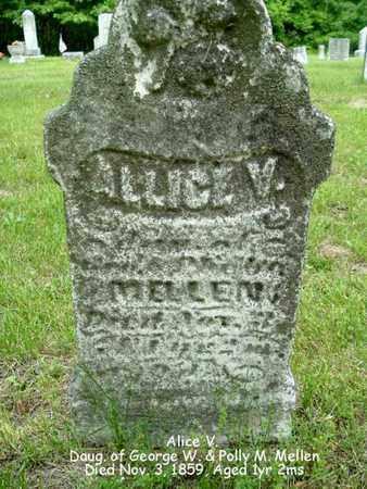 MELLEN, ALICE V. - Calhoun County, Michigan | ALICE V. MELLEN - Michigan Gravestone Photos