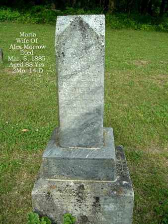 MORROW, MARIA - Calhoun County, Michigan | MARIA MORROW - Michigan Gravestone Photos
