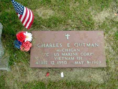 OUTMAN, CHARLES E - Calhoun County, Michigan | CHARLES E OUTMAN - Michigan Gravestone Photos
