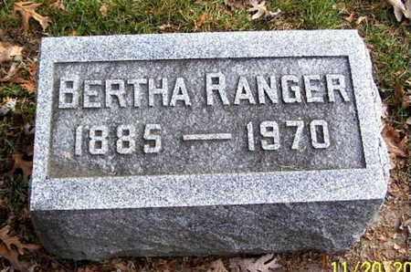 RANGER, BERTHA - Calhoun County, Michigan | BERTHA RANGER - Michigan Gravestone Photos