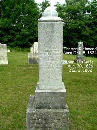 RICHMOND, ANN - Calhoun County, Michigan   ANN RICHMOND - Michigan Gravestone Photos