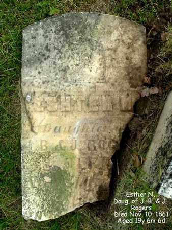 ROGERS, ESTHER - Calhoun County, Michigan | ESTHER ROGERS - Michigan Gravestone Photos
