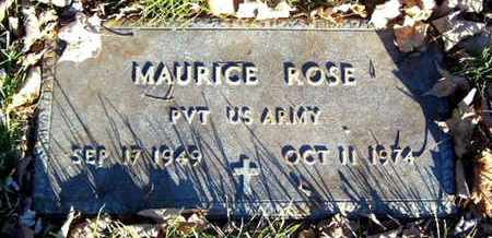ROSE, MAURICE - Calhoun County, Michigan | MAURICE ROSE - Michigan Gravestone Photos