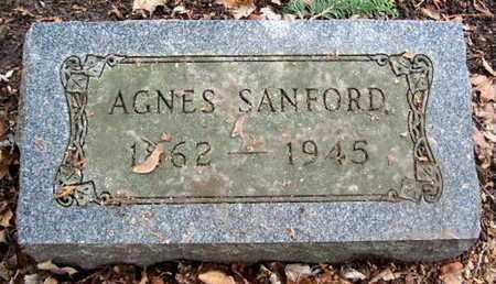 SANFORD, AGNES - Calhoun County, Michigan | AGNES SANFORD - Michigan Gravestone Photos