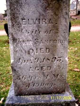 SANFORD, ELVIRA - Calhoun County, Michigan   ELVIRA SANFORD - Michigan Gravestone Photos