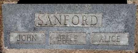 "SANFORD, ISABELLE ""BELLE"" - Calhoun County, Michigan | ISABELLE ""BELLE"" SANFORD - Michigan Gravestone Photos"