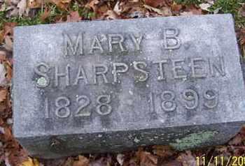 SHARPSTEEN, MARY B - Calhoun County, Michigan | MARY B SHARPSTEEN - Michigan Gravestone Photos