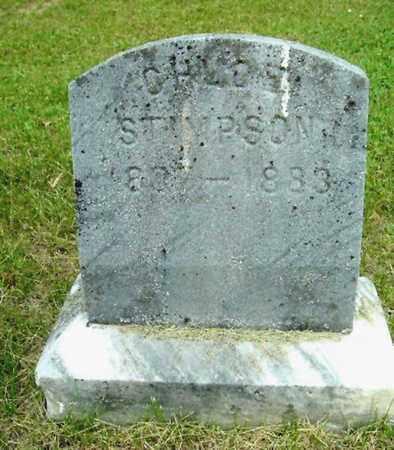 STIMPSON, CHLOE - Calhoun County, Michigan | CHLOE STIMPSON - Michigan Gravestone Photos