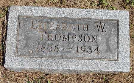 THOMPSON, ELIZABETH W - Calhoun County, Michigan | ELIZABETH W THOMPSON - Michigan Gravestone Photos