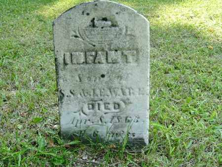 WARE, INFANT SON OF S. & J. - Calhoun County, Michigan   INFANT SON OF S. & J. WARE - Michigan Gravestone Photos