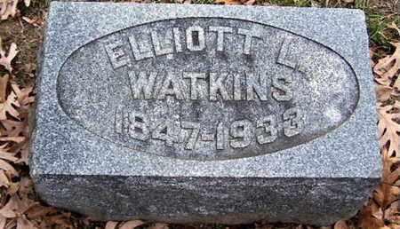 WATKINS, ELLIOTT L - Calhoun County, Michigan | ELLIOTT L WATKINS - Michigan Gravestone Photos